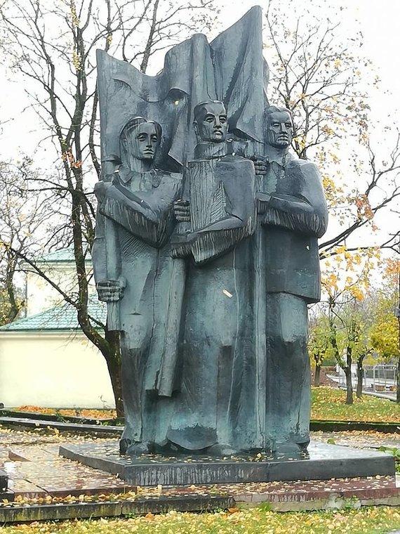 Facebook nuotr./Paminklas sovietiniams kariams Ukmergėje