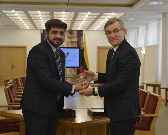 """Asociacijos """"Ahmadija"""" nuotr./Ahmedas Farazas ir Viktoras Pranckietis"""