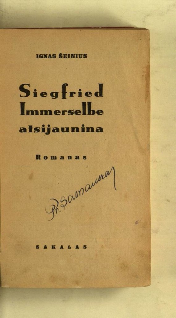 "epaveldas.lt nuotr./""Siegfriedas Immerselbe atsijaunina"""