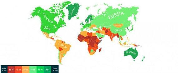 Eco Experts nuotr./Klimato kaitos žemėlapis