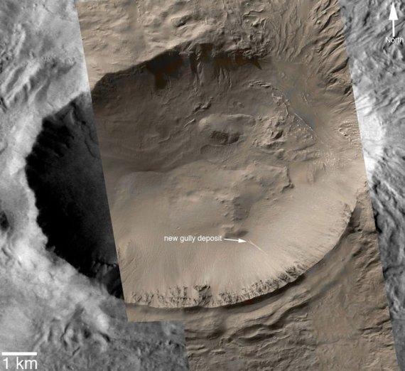 NASA/JPL/Arizona state university/Vandens daubų nuosėdos Marse