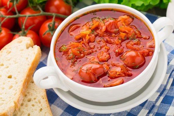 Fotolia nuotr./Pomidorų sriuba