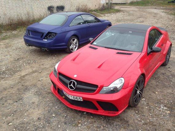 """Re-Styling.lt"" nuotr. /Lietuvių pagaminta ""Mercedes-Benz SL65 AMG Black Series"" kopija"
