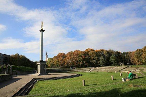 Planuojama remontuoti Šaulio skulptūros koloną