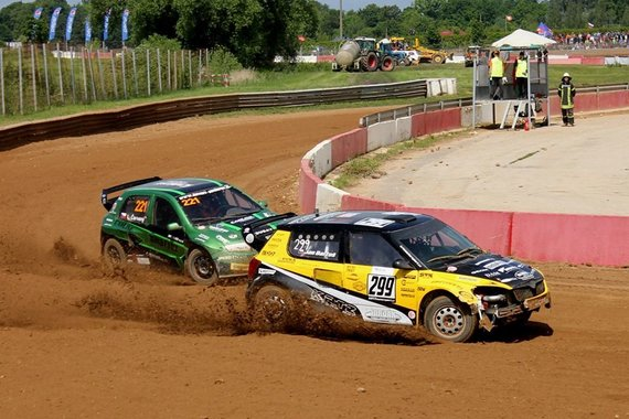 Organizatorių nuotr./Europos autokroso čempionato etapas Bauskėje