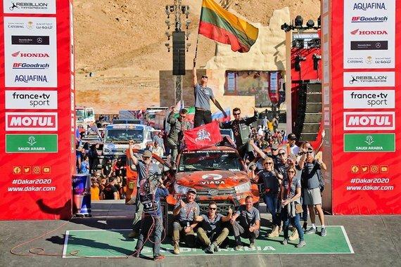 iGo2Dakar nuotr./Lietuviai Dakaro finiše