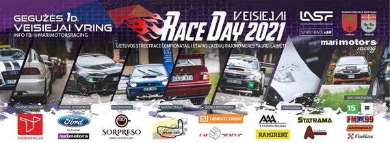 """RaceDay Veisiejai"" plakatas"