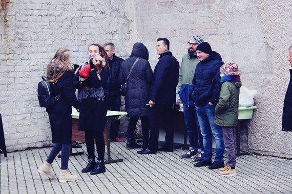 Org. nuotr./Šv. Martyno dienos grilio nuotraukos su jaunimu