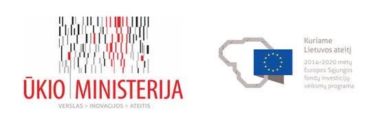 Ukio ministerijos ir ES logotipai
