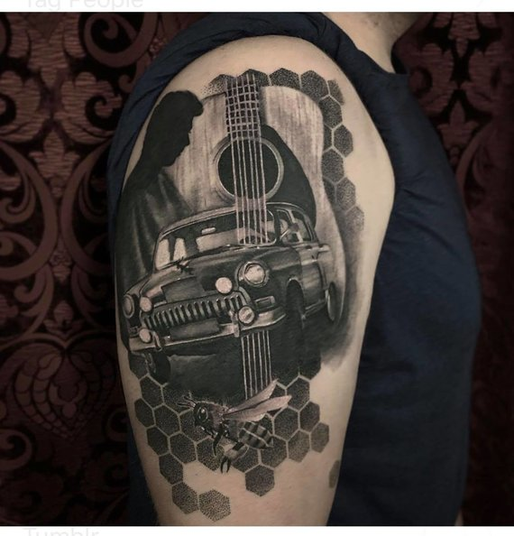 Asmeninio archyvo nuotr./D.Djačkovo tatuiruočių pasaulyje
