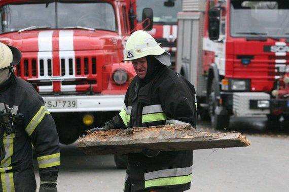 Alvydo Januševičiaus nuotr./Dujų sprogimas sugriovė namą iki pamatų