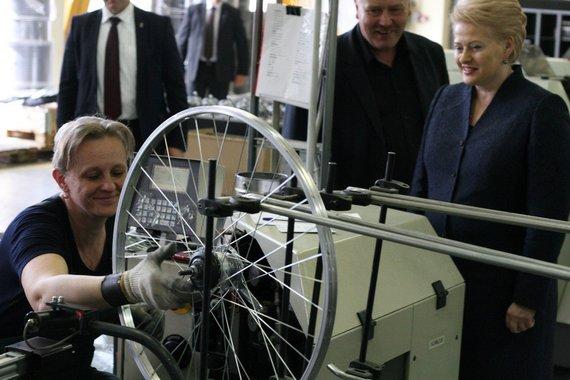 """Baltik vairo"" gamyklą lanko prezidentė D.Grybauskaitė"