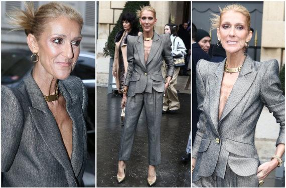 """""""Scanpix""""/""""SIPA"""" nuotr./Celine Dion įvaizdis Paryžiaus aukštosios mados savaitėje"""