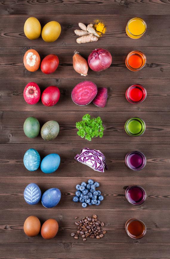 123RF.com nuotr./Kaip išgauti norimą spalvą kiaušiniui?