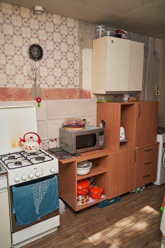 Pranešimo autorių nuotr./Virtuvė prieš pertvraką
