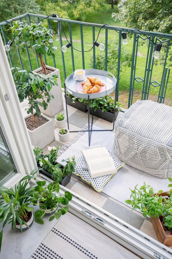 123RF.com nuotr./Mažo balkono dekoras