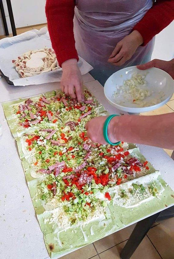 Pranešimo autorių nuotr./Maisto gaminimo pamokos