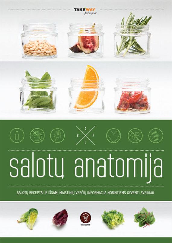 """Knygos """"Salotų anatomija"""" viršelis."""