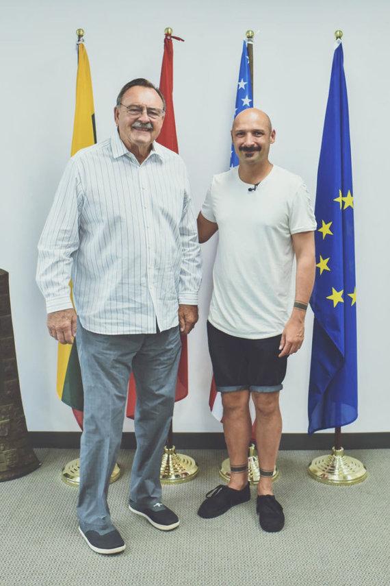 """""""ToBeLt"""" misijos nuotr./Dikas Butkus ir Jurgis Didžiulis (dešinėje)"""