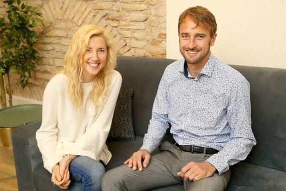 Asmeninio archyvo nuotr./Andrė Pabarčiūtė ir Thomas Aksnes