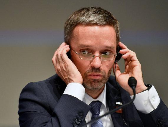 """AFP/""""Scanpix"""" nuotr./Austrijos vidaus reikalų ministras Herbertas Kicklis"""