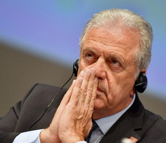 """AFP/""""Scanpix"""" nuotr./ES migracijos komisaras Dimitris Avramopoulos"""