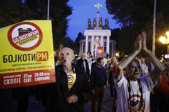 """""""Scanpix""""/AP nuotr./Daug Makedonijos rinkėjų boikotavo referendumą"""