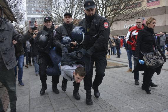 """""""Scanpix""""/AP nuotr./Bosnijos ir Hercegovinos policija gruodžio 25 dieną jėga išvaikė demonstraciją"""