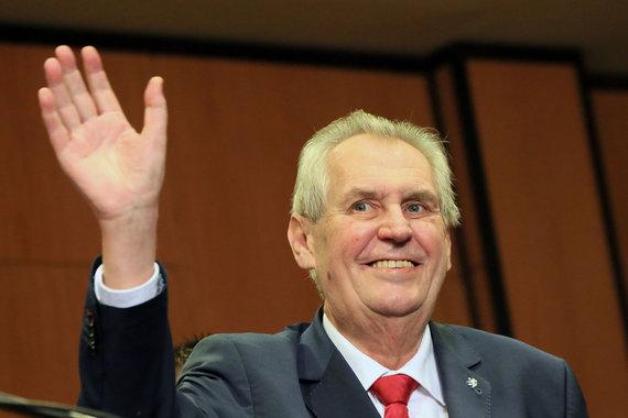 """AFP/""""Scanpix"""" nuotr./Čekijos prezidentas Milošas Zemanas"""