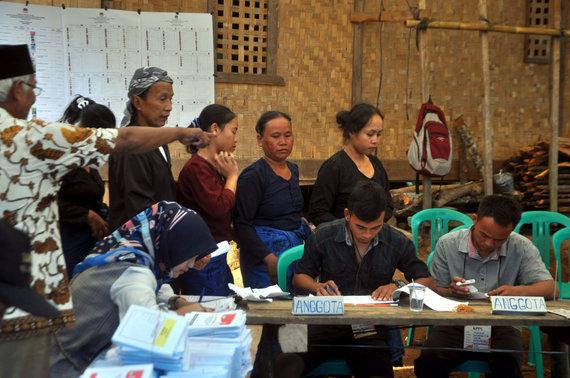 "AFP/""Scanpix"" nuotr./Rinkimai Indonezijoje"
