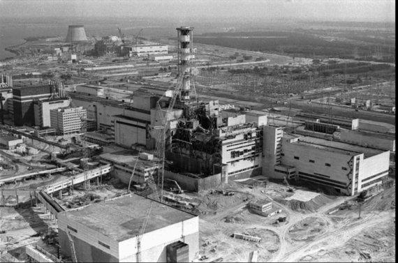 """""""Scanpix""""/AP nuotr./Černobylio atominė elektrinė po reaktoriaus sprogimo"""