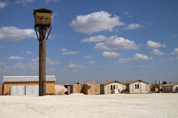 """AFP/""""Scanpix"""" nuotr./Bazė Sirijos šiaurėje, iš kurios pasitraukė JAV specialiųjų pajėgų kariai"""
