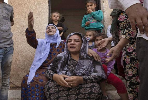 """AFP/""""Scanpix"""" nuotr./Sirijos šiaurėje gyvenantys kurdai"""