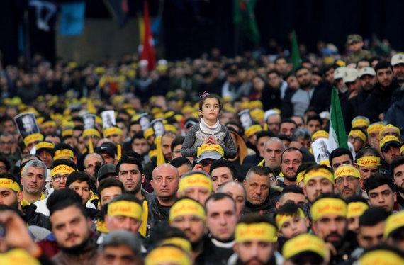 """Reuters""/""Scanpix"" nuotr./""Hezbollah"" nariai Libane gedi Qasemo Soleimani"