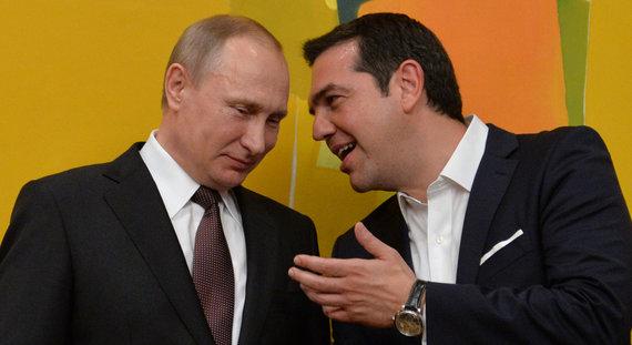 """""""Scanpix"""" nuotr./Vladimiras Putinas ir Aleksis Cipras"""