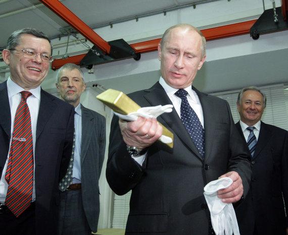 """""""Scanpix"""" nuotr./Rusijos prezidentas V.Putinas su aukso lydiniu"""