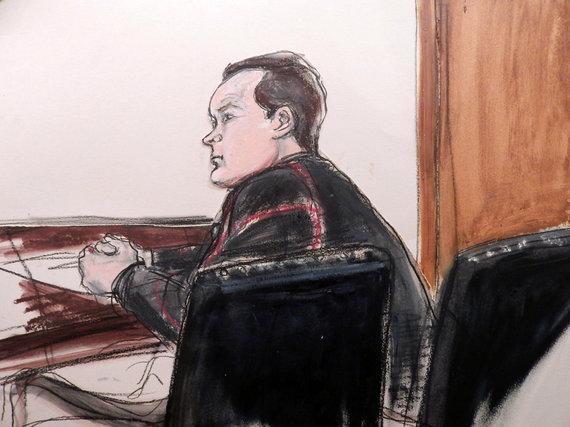 """""""Scanpix""""/AP nuotr./Jevgenijus Buriakovas teisme JAV"""