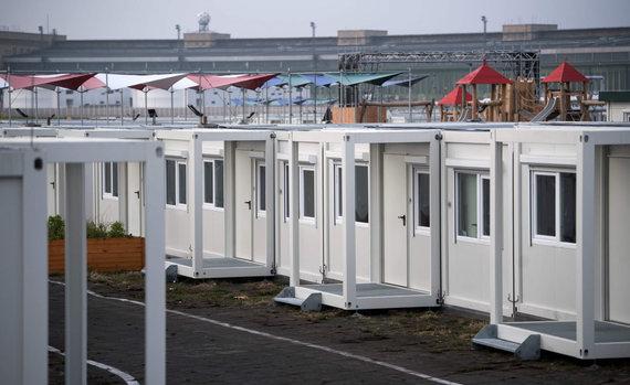 """AFP/""""Scanpix"""" nuotr./Pabėgėlių prieglauda Berlyne"""
