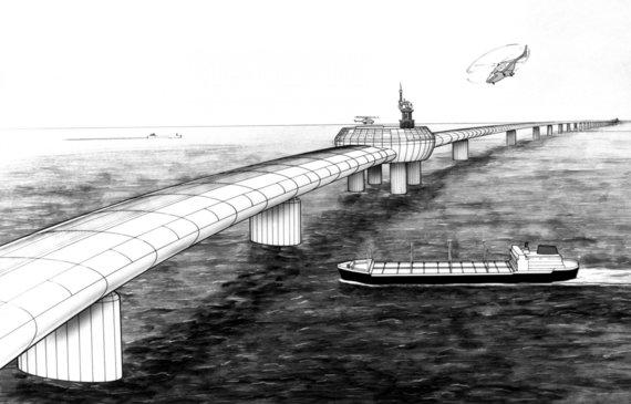 """""""Scanpix""""/""""PA Wire""""/""""Press Association Images"""" nuotr./Planų dėl tilto per Lamanšo sąsiaurį būta dar 1985 metais"""