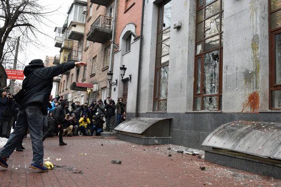 """""""Scanpix"""" nuotr./Kijeve siautėjo Ukrainos nacionalistai"""
