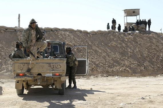 """""""Scanpix""""/AP nuotr./SDF kariai Rytų Sirijoje"""