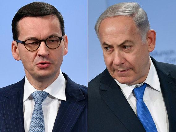 "AFP/""Scanpix"" nuotr./M.Morawieckis ir B.Netanyahu"