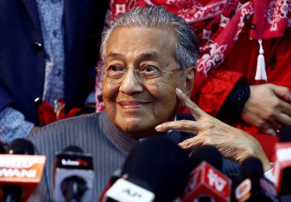 """Reuters""/""Scanpix"" nuotr./Buvęs Malaizijos premjeras Mahathiras Mohamadas"