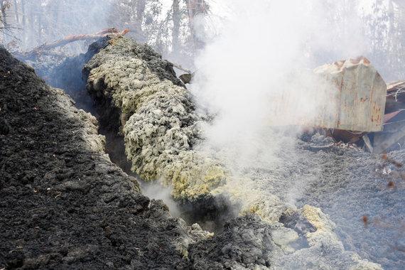 """""""Reuters""""/""""Scanpix"""" nuotr./Kilauėjos ugnikalnyje atsivėrė naujas plyšys"""