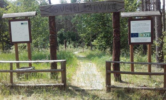 Apleistas miško parkas Trakų rajone