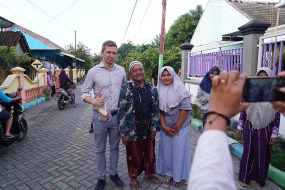 Javos salos gyventojai mėgsta fotografuotis