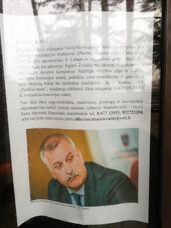 Skaitytojo nuotr./Skelbimas Turizmo centre