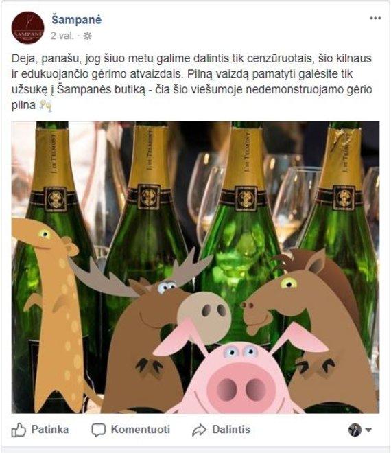 Šampanės reklama