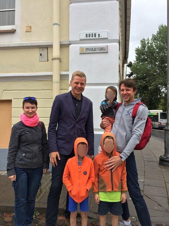 Julijos Bašinovos šeima su Vilniaus meru Remigijumi Šimašiumi