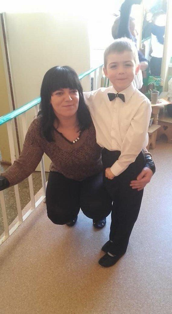 Asmeninio archyvo nuotr./Ramunė su sūnumi